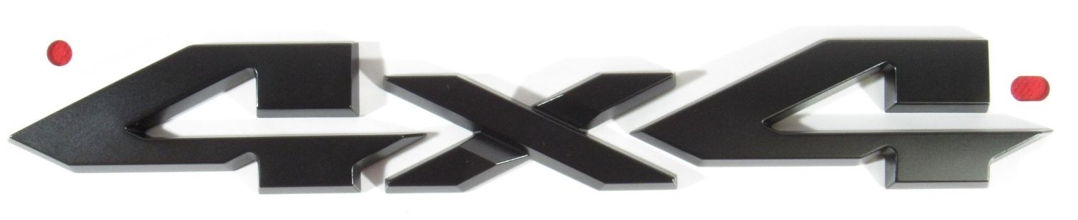 "Black ""4x4 Tailgate Emblem 2019-up RAM 1500"