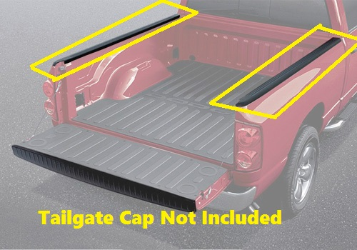 Mopar ABS composite Bed Rail Caps 02-08 Dodge Ram SB
