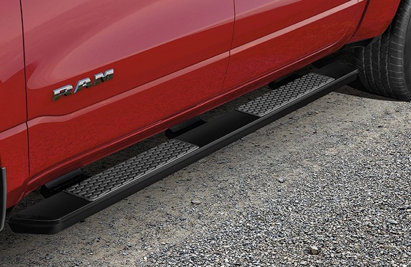 Mopar Matte Black Painted Running Boards 2019-up Ram 1500 Quad