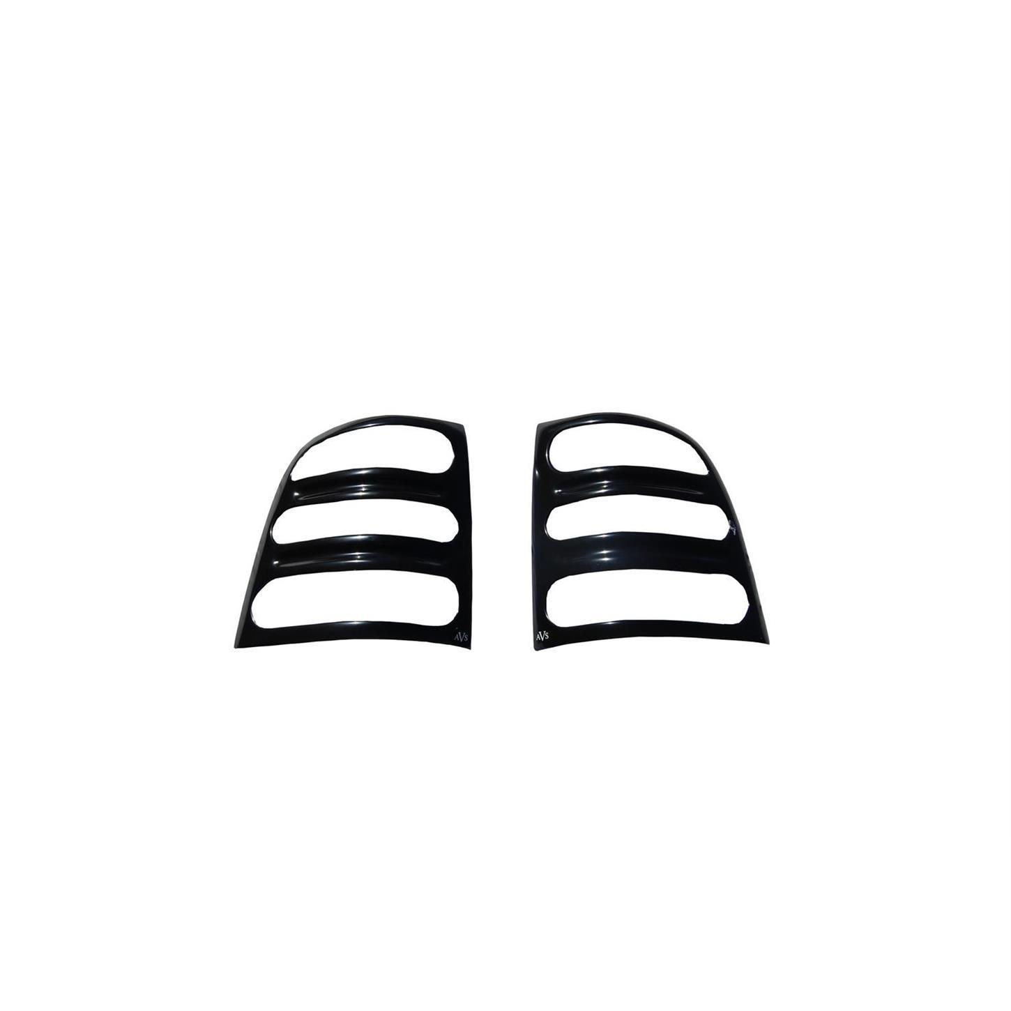 AVS Black Slotted Tail Light Covers 94-02 Dodge Ram Pickup