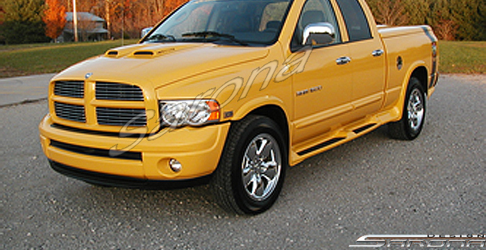 Sarona Fiberglass Custom Running Boards 02-05 Dodge Ram Quad Cab
