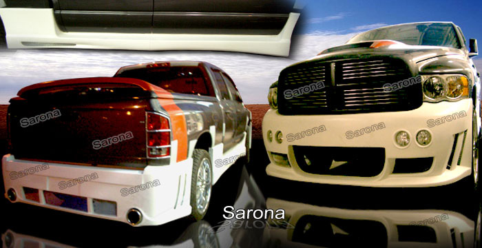Sarona Fiberglass Complete Body Kit 02-05 Dodge Ram 4 Door