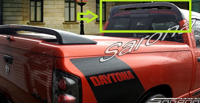 Sarona Fiberglass Roof Wing 02-08 Ram,Rumble Bee,Daytona,SRT-10