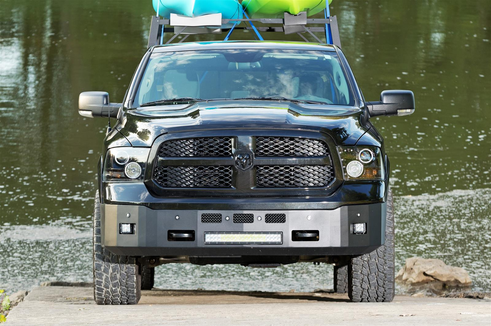 Dee Zee K-Series Black Steel Front Bumper 2013-18 Dodge Ram