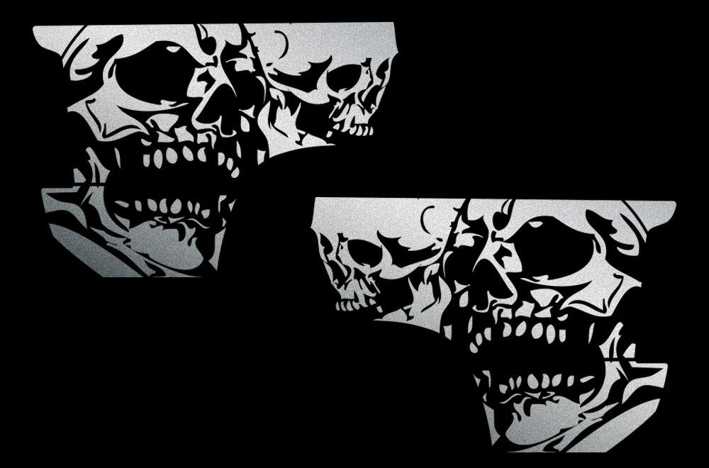 Custom Double Skull Body Graphics Decal Kit