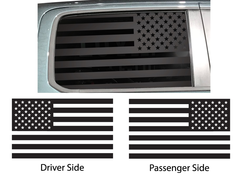 American Flag Side Window Custom Decals Dodge, Chrysler, Jeep