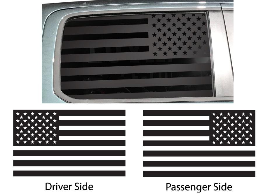 Lip Print USA American Flag Vinyl Decal