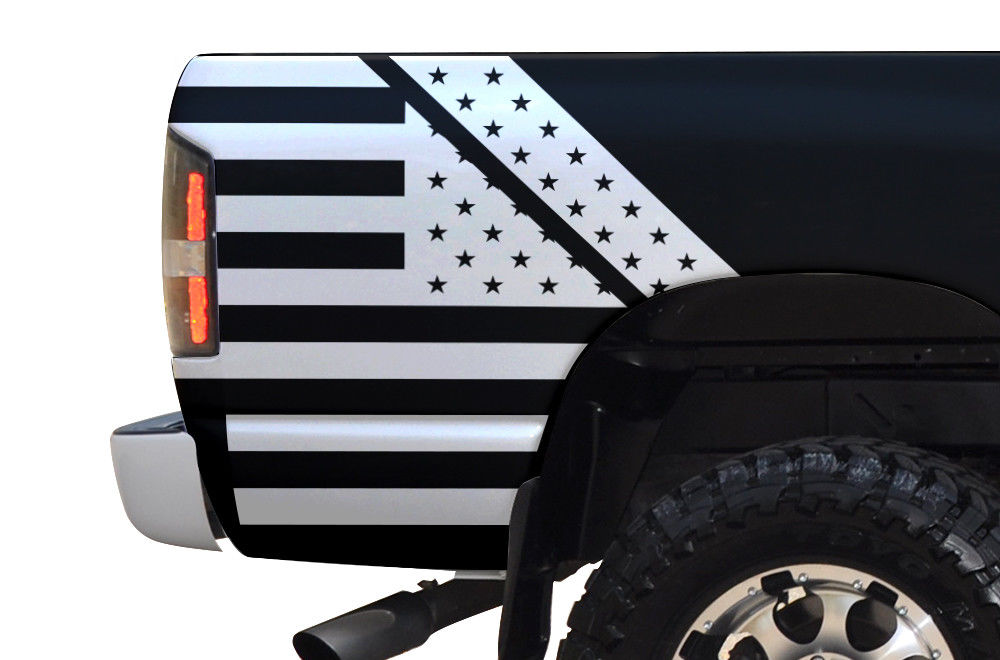 Custom Folded American Flag Body Graphics Decal Kit