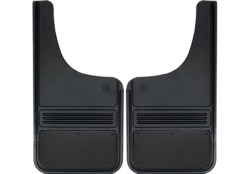 Truck Hardware 2pc 12 x 23 Front Black Plate Mud Flaps