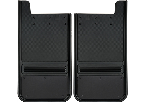 Truck Hardware 2pc 12 x 23 Rear Black Plate Mud Flaps