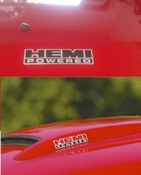 """Hemi Powered"" Custom Decal Dodge-Chrysler-Jeep"