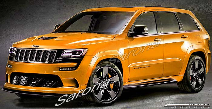 Sarona Fiberglass SRT Style Hood 11-up Jeep Grand Cherokee