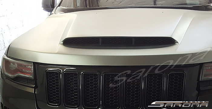 Sarona Fiberglass Demon Style Hood 11-up Jeep Grand Cherokee