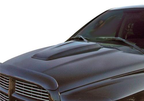 02-08 Dodge Ram Hood Scoops, 02-08 Dodge Ram Fiberglass Hood Scoops