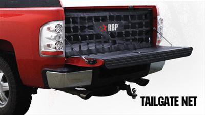 Rolling Big Power Black Vinyl Tailgate Net Dodge Ram