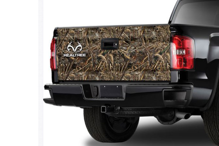 Max-5 Camo Pattern with RealTree Logo Tailgate Graphic