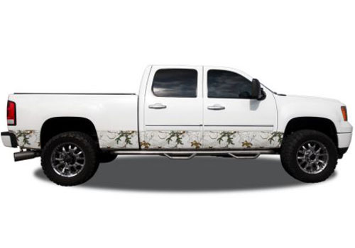 "Xtra Snow Camo Pattern 12"" Wide Rocker Panel Kit"