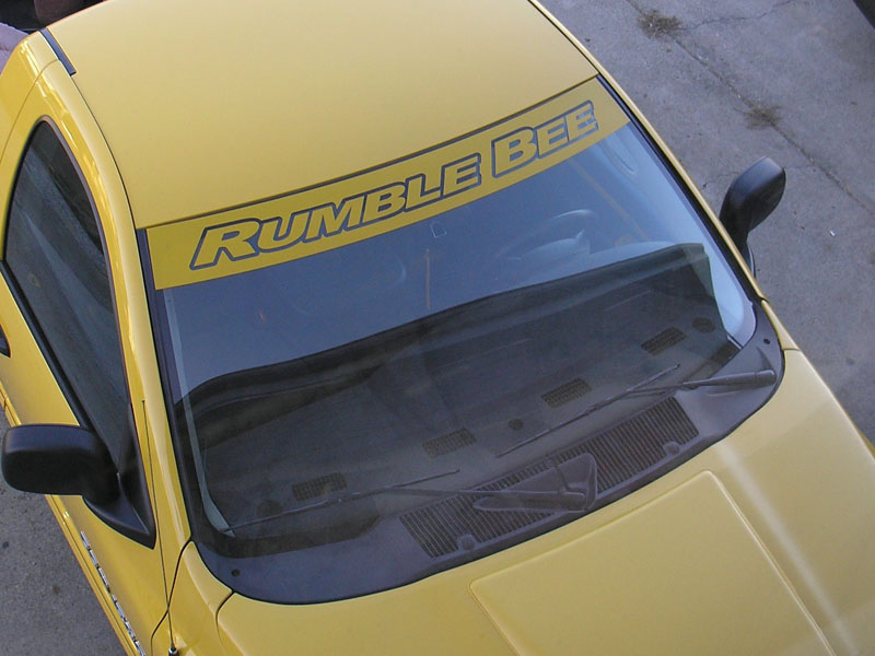 Rumble Bee Windshield Banner Decal Dodge Ram Rumble Bee