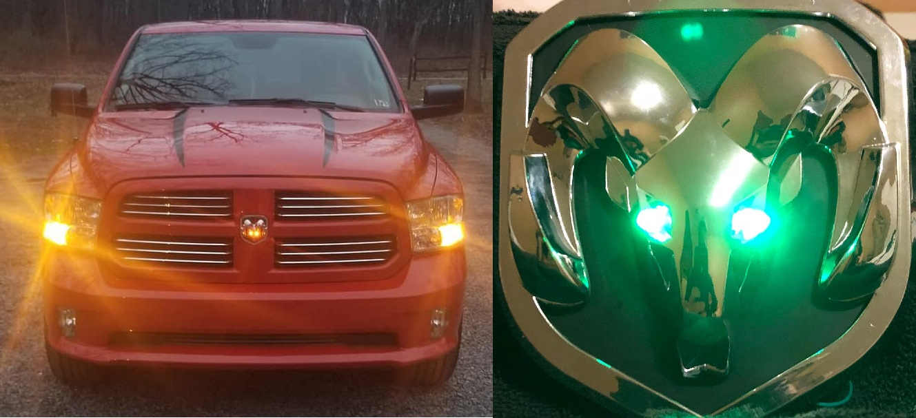 """X-Sighted"" Illuminated Grille Emblem 13-18 Ram & 19-20 Classic"