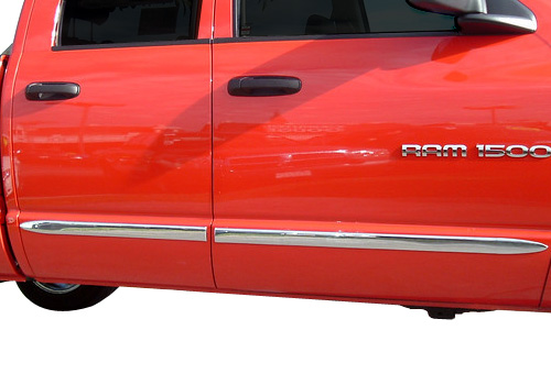 TFP Chrome Body Side Molding 02-08 Dodge Ram Quad Cab