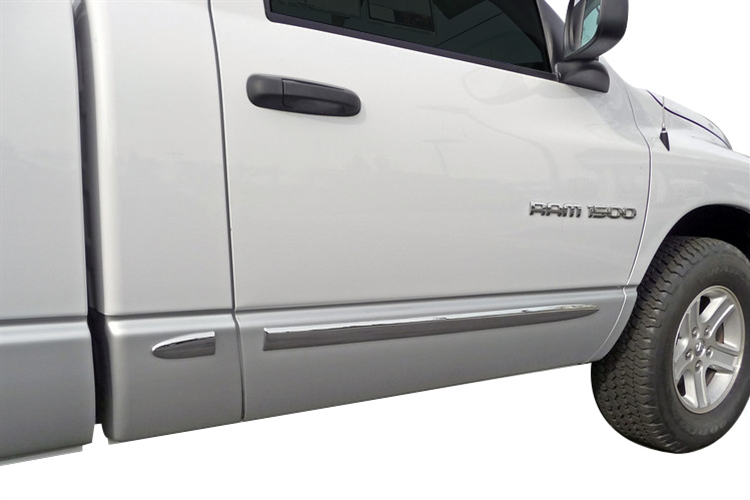 TFP Chrome Body Side Molding 02-08 Dodge Ram Single Cab