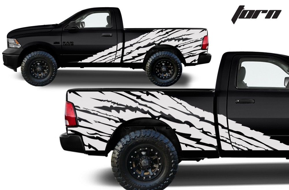 Custom Torn Graphics Decal Kit