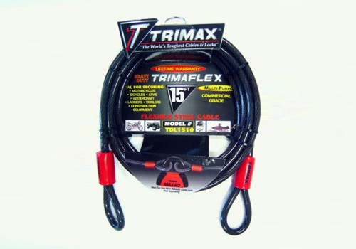 Trimax 15' x 10mm Quadra Braid Trimaflex Cable