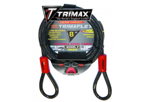 Trimax 8' x 15mm Quadra Braid Trimaflex Cable