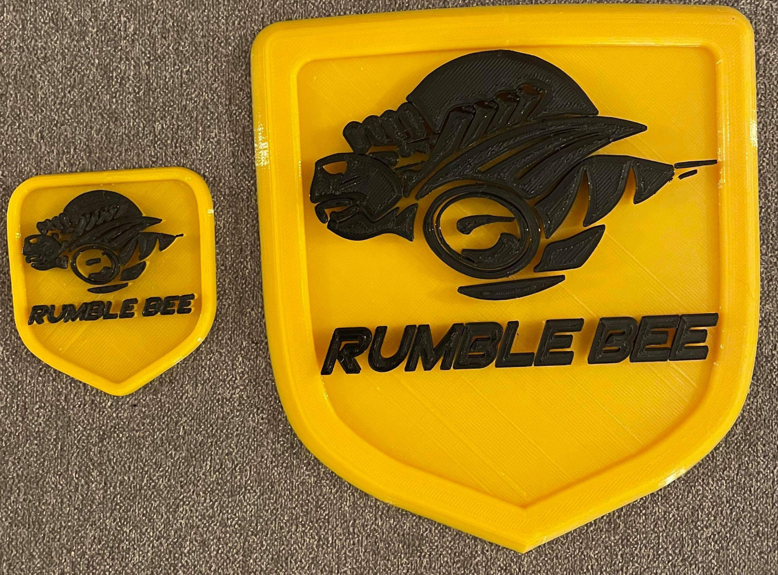 """Rumble Bee"" 3D Printed Complete Shield Emblem Set Dodge Ram"