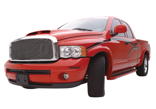 ATS Bright Silver Fender Flare Kit 02-09 Dodge Ram