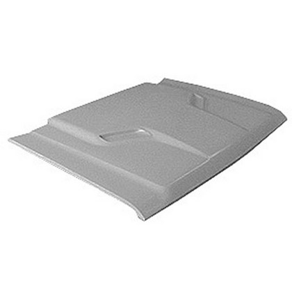 Fiberglass R/T Style Heavy Duty Hood 76-93 Dodge Ram - Click Image to Close