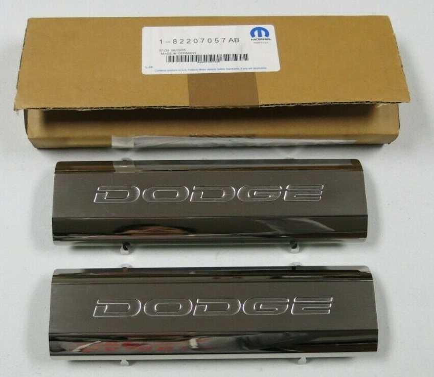 """Dodge"" Stainless Steel Rear Door Sill Guards 09-12 Dodge Ram"