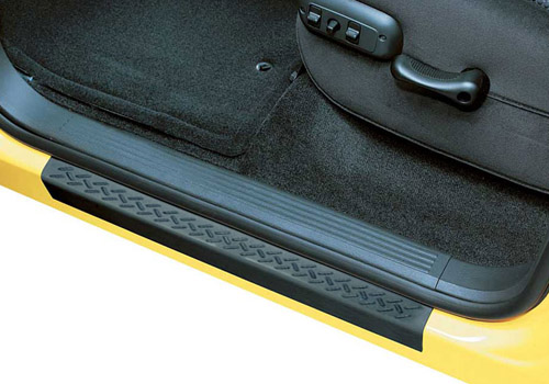AVS Black 2pc Door Sill Stepshields 74-up Dodge Ram, Dakota