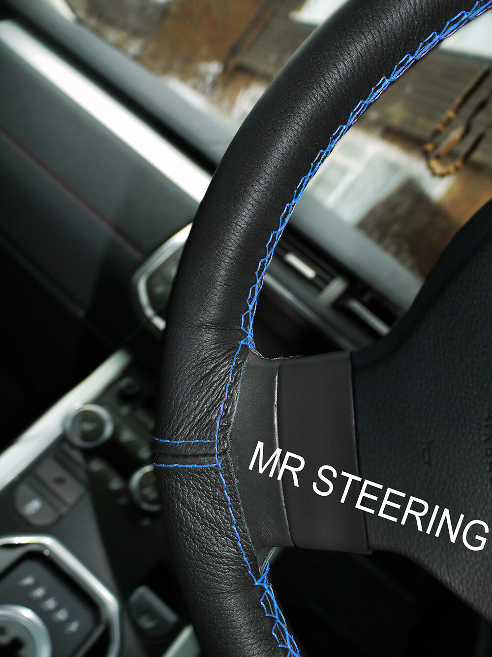 Black Leather Steering Wheel Cover Color Stitching Night Runner