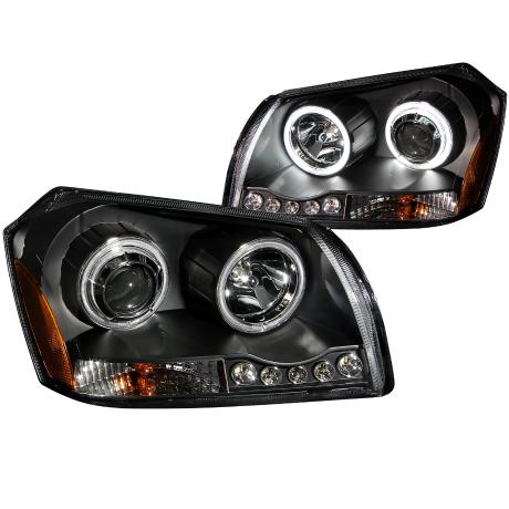 Anzo Black Projector Headlights 05-07 Dodge Magnum