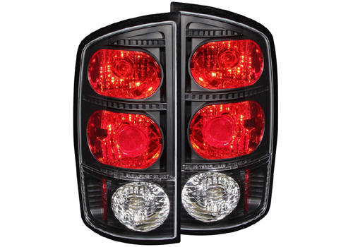 Anzo Black Tail Light Set 02-06 Dodge Ram