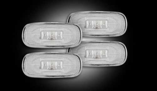 Recon Clear LED Fender Lights 03-09 Dodge Ram Dually