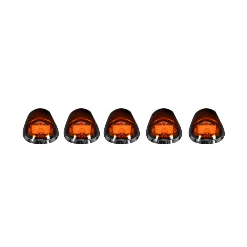 Recon 5-Pc Amber Cab Roof Lights Amber OLEDs 03-19 Dodge Ram