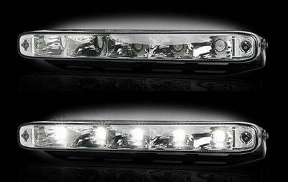 Recon Clear Lens White LED AUDI Style Daytime Running Lights