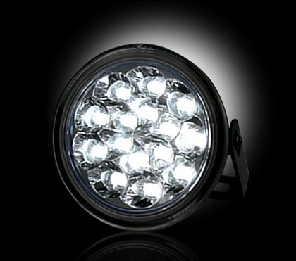 Recon Smoked Lens White LED Daytime Round Running Lights