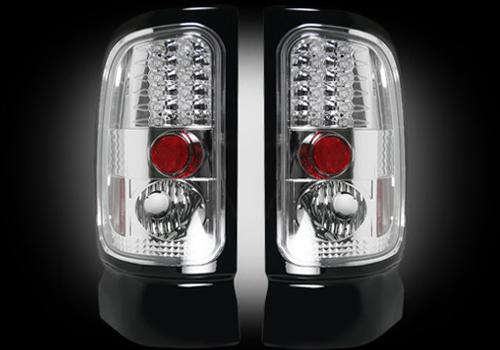 Recon Clear LED Tail Light Set 94-02 Dodge Ram