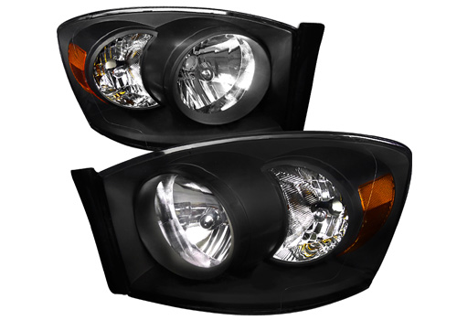 Spec-D Black Crystal Headlights 06-08 Dodge Ram