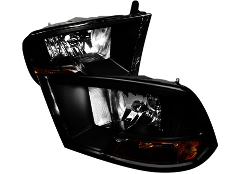 Spec-D Euro Black Smoked Lens Headlights 09-18 DODGE RAM