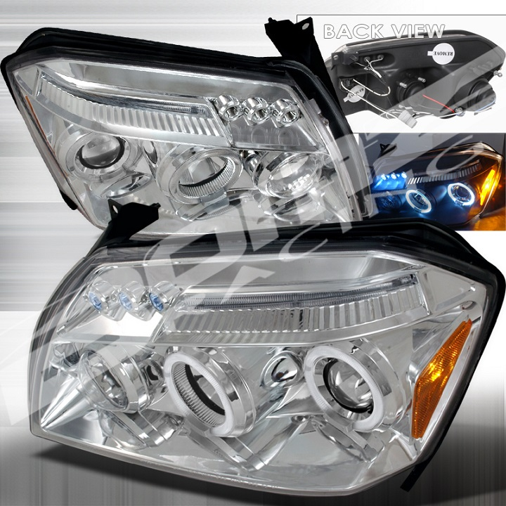 Spec-D Chrome LED Halogen Projector Headlights 05-07 Magnum