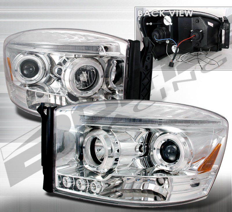 Spec-D Chrome Crystal Headlights 06-08 Dodge Ram