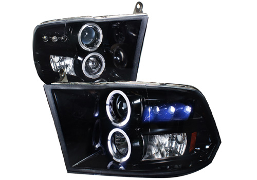 Spec-D Projector Smoked LED Headlights 09-18 DODGE RAM