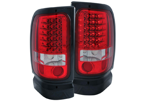 Anzo Red-Clear LED Tail Light Set 94-02 Dodge Ram