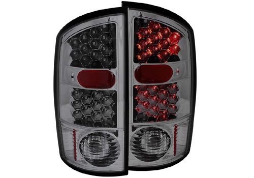 Anzo Smoked LED Tail Light Set 02-06 Dodge Ram