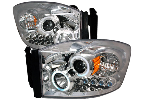 Chrome CCFL Projector Headlights With LEDs 06-08 Dodge Ram