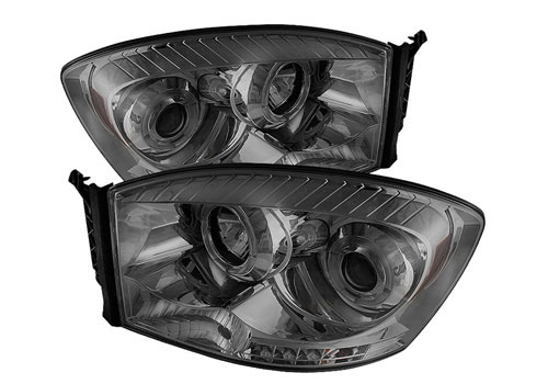 Spyder LED Projector Smoked Headlights 06-08 Dodge Ram